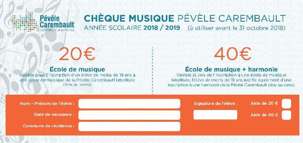 chèque musique