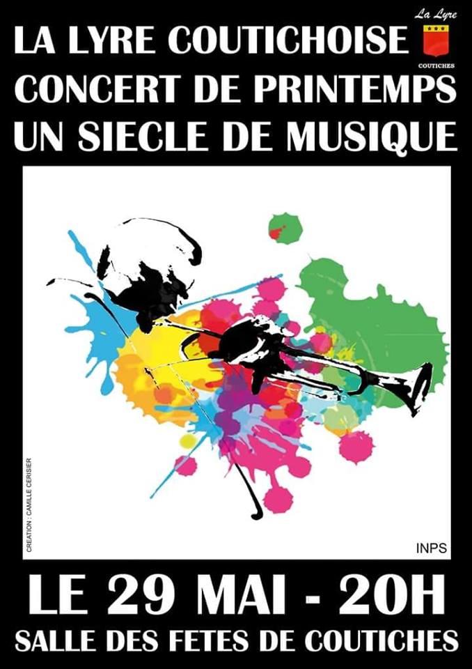 affiche de concert de la lyre coutichoise